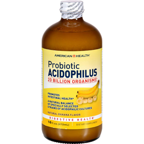 American Health Probiotic Acidophilus Banana - 16 Fl Oz