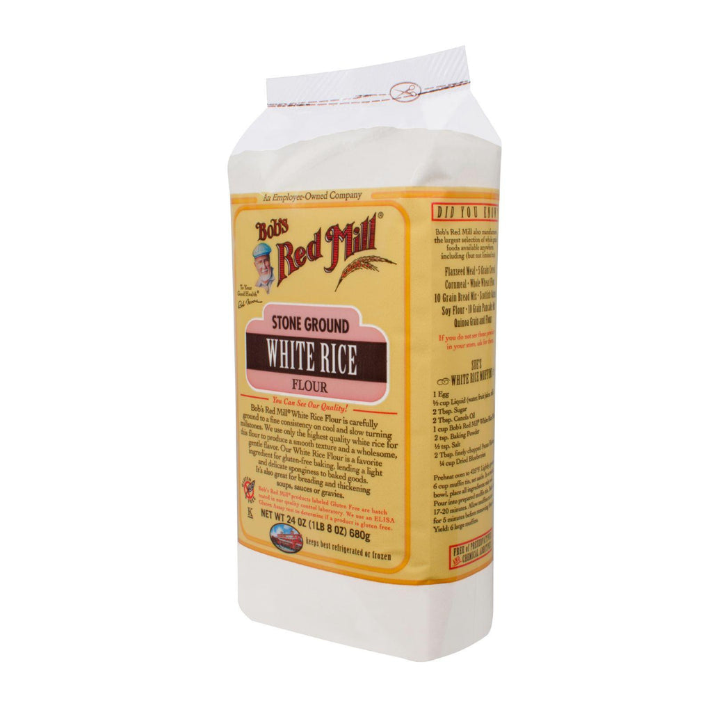 Bob's Red Mill Gluten Free White Rice Flour - 24 Oz - Case Of 4