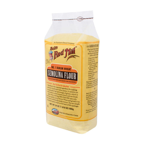 Bob's Red Mill Semolina Pasta Flour - 24 Oz - Case Of 4