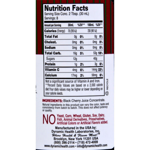 Dynamic Health Black Cherry Juice Concentrate - 8 Fl Oz