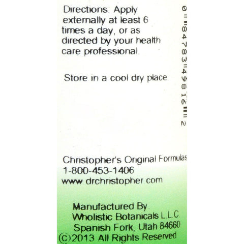 Dr. Christopher's Complete Tissue And Bone Massage Oil - 2 Fl Oz