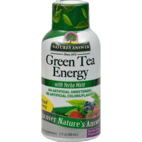 Nature's Answer Green Tea Energy Display Center Case - Case Of 12 - 2 Oz