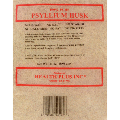 Health Plus Pure Psyllium Husk - 24 Oz