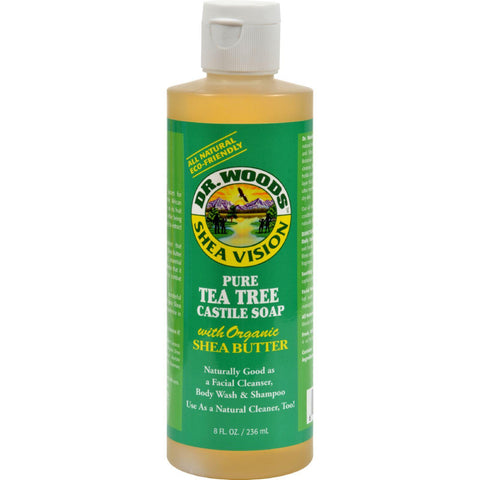 Dr. Woods Shea Vision Pure Castile Soap Tea Tree - 8 Fl Oz