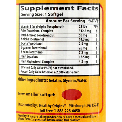 Healthy Origins Tocomin Suprabio - 50 Mg - 150 Softgels
