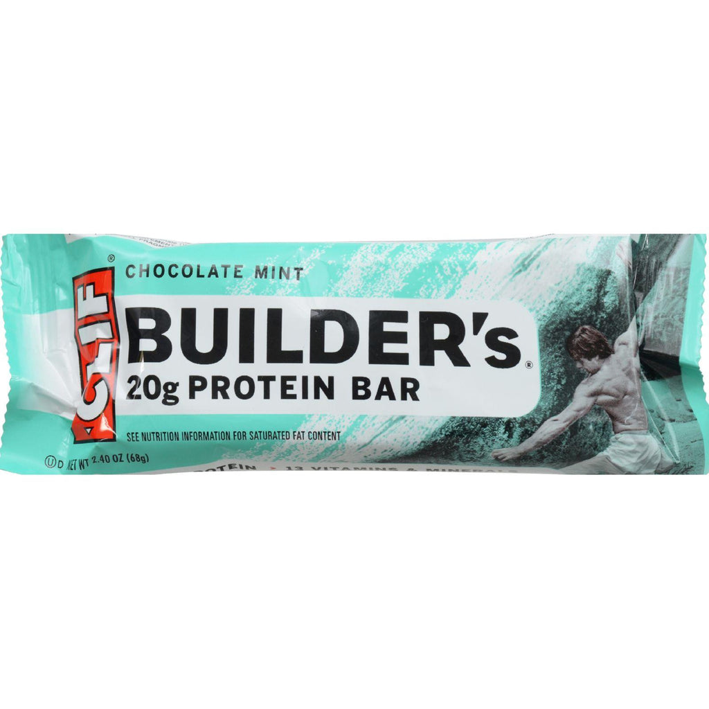 Clif Bar Builder Bar - Chocolate Mint - Case Of 12 - 2.4 Oz