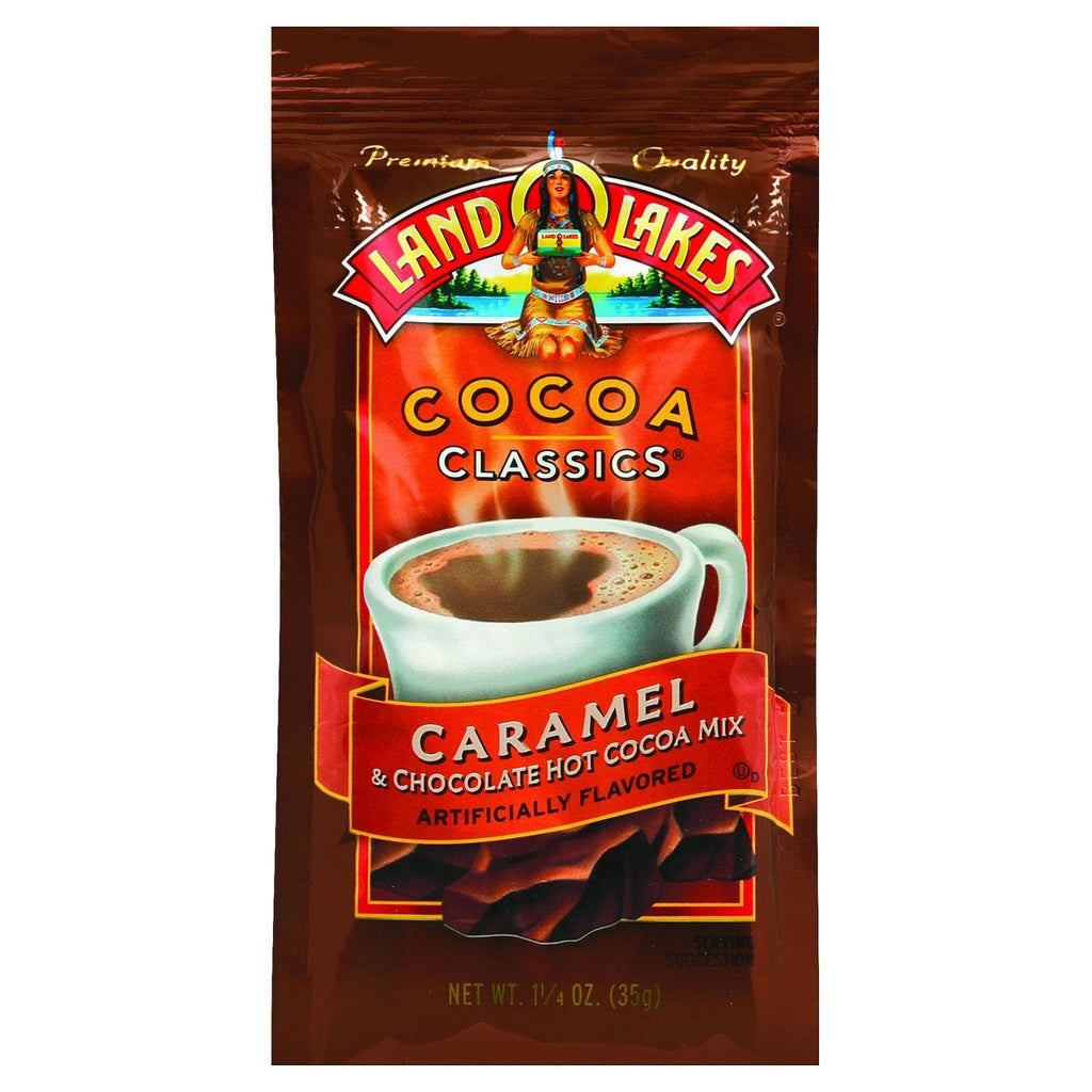 Land O Lakes Cocoa Classic Mix - Caramel And Chocolate - 1.25 Oz - Case Of 12
