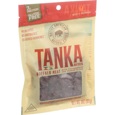 Tanka Bar Bites - Buffalo With Cranberry - Spicy Pepper Blend - 3 Oz - Case Of 6