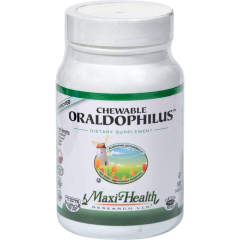 Maxi Health Chewable Oraldophilus Probiotic Formula - 100 Tablets