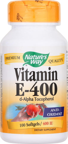 Natures Way Vitamin E - 400 Iu - D-alpha Tocopherol- 100 Softgels
