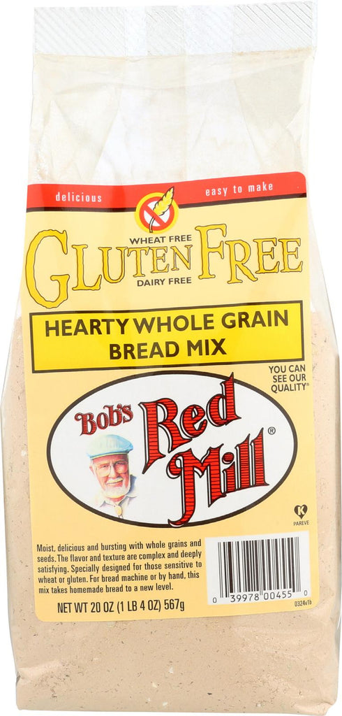 Bob's Red Mill Gluten Free Hearty Whole Grain Bread Mix - 20 Oz - Case Of 4