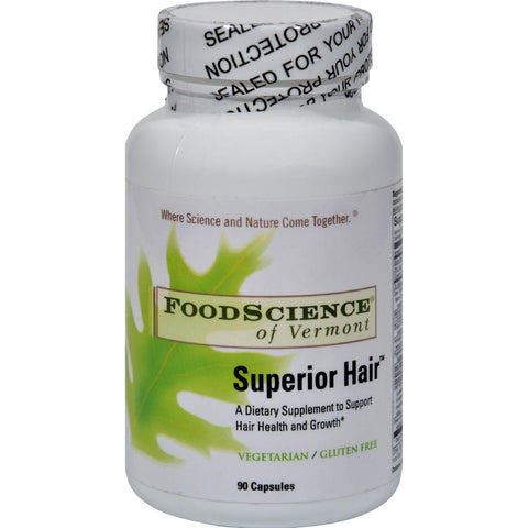 Foodscience Of Vermont Superior Hair - 90 Vegetarian Capsules