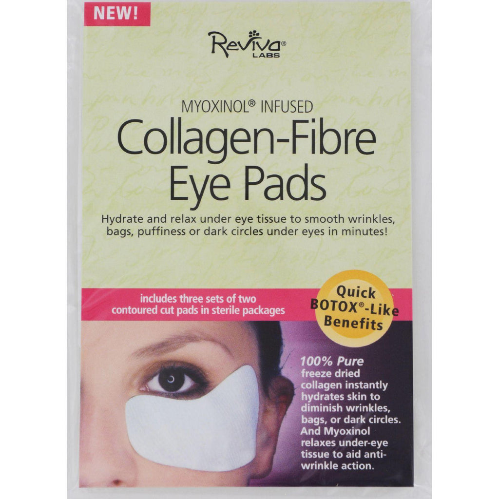 Reviva Labs Collagen Fiber Contoured Eye Pads - Case Of 6 - 3 Sets