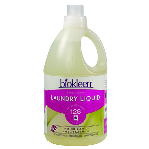 Biokleen Laundry Liquid - Free And Clear - 64 Oz