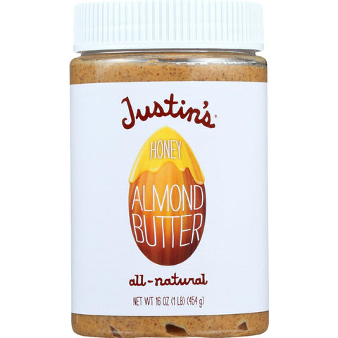 Justins Nut Butter Almond Butter - Honey - Jar - 16 Oz - Case Of 6
