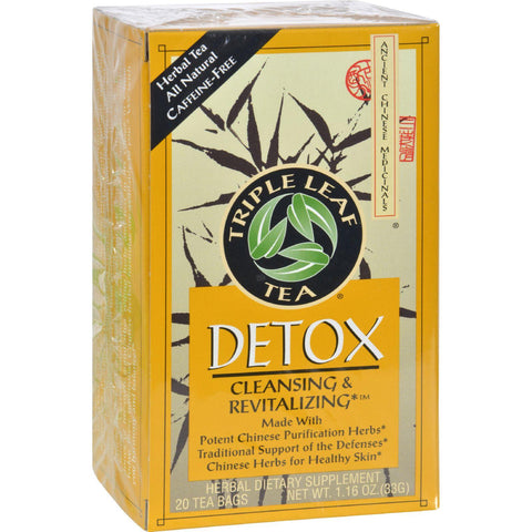 Triple Leaf Tea Detox Tea - 20 Tea Bags - Case Of 6