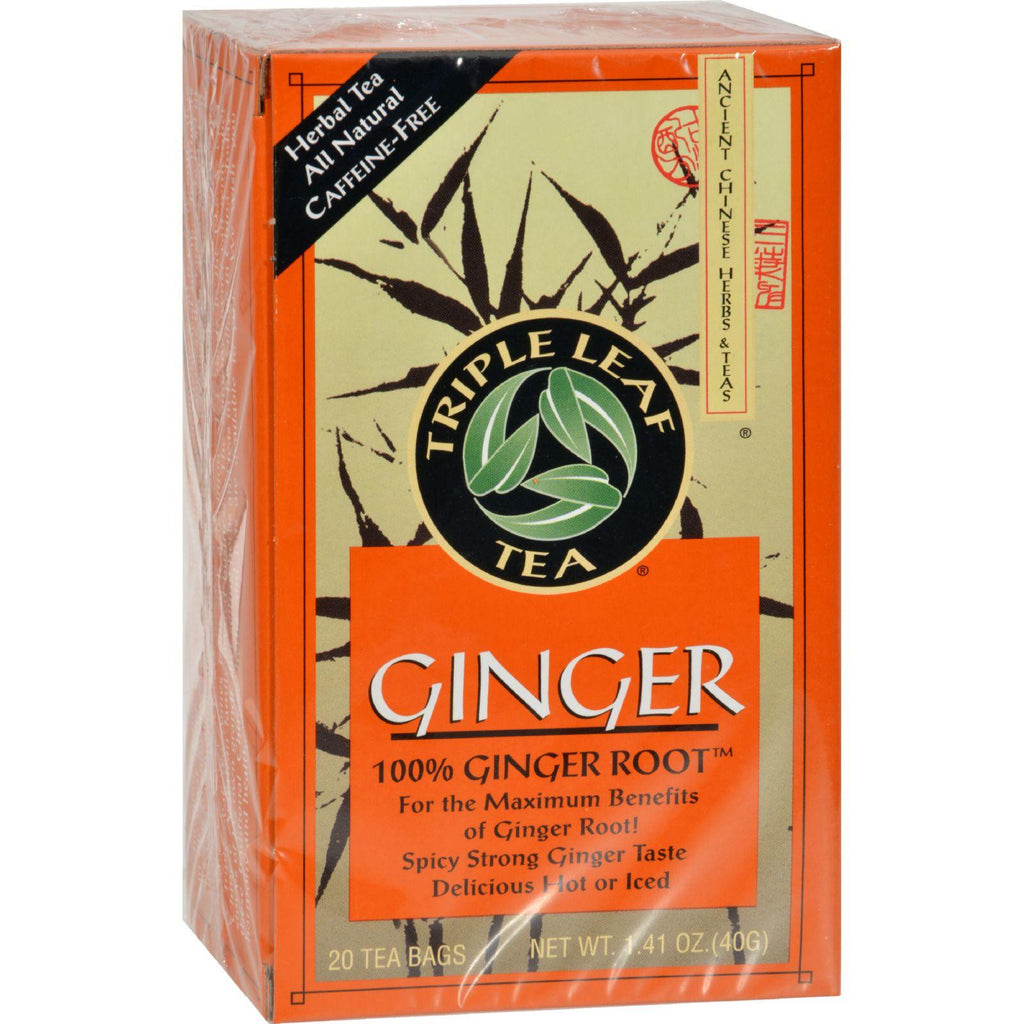 Triple Leaf Tea Ginger - 20 Tea Bags - Case Of 6