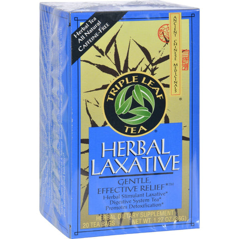 Triple Leaf Tea Herbal Laxative - 20 Tea Bags - Case Of 6