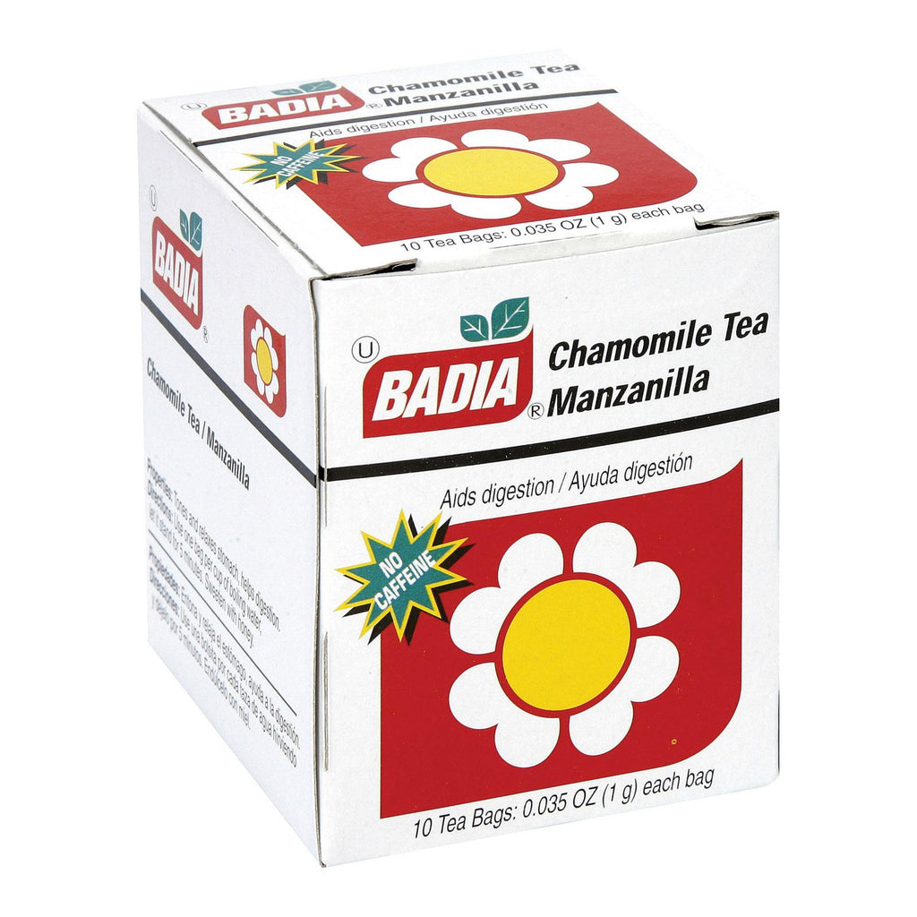 Badia Spices Chamomile Tea Bags - Case Of 20 - 10 Bags