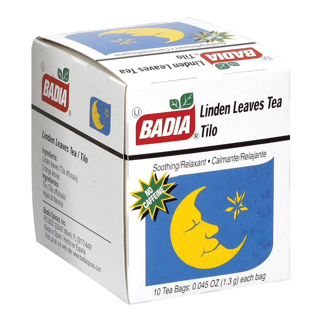 Badia Spices Linden Tea - Case Of 20 - 10 Bags