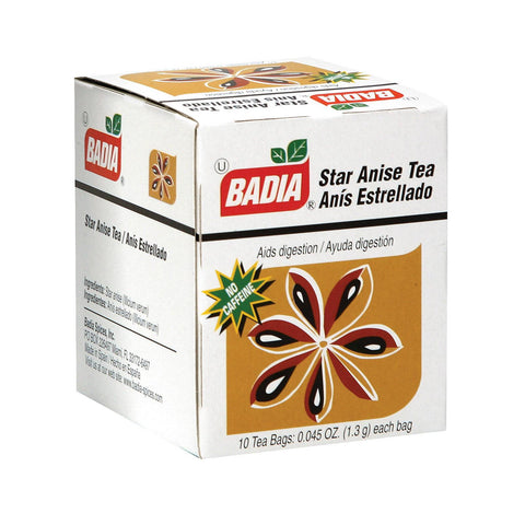Badia Spices Tea Star Anise - Case Of 20 - 10 Bags