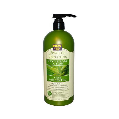 Avalon Organics Hand And Body Lotion Aloe Unscented - 32 Fl Oz