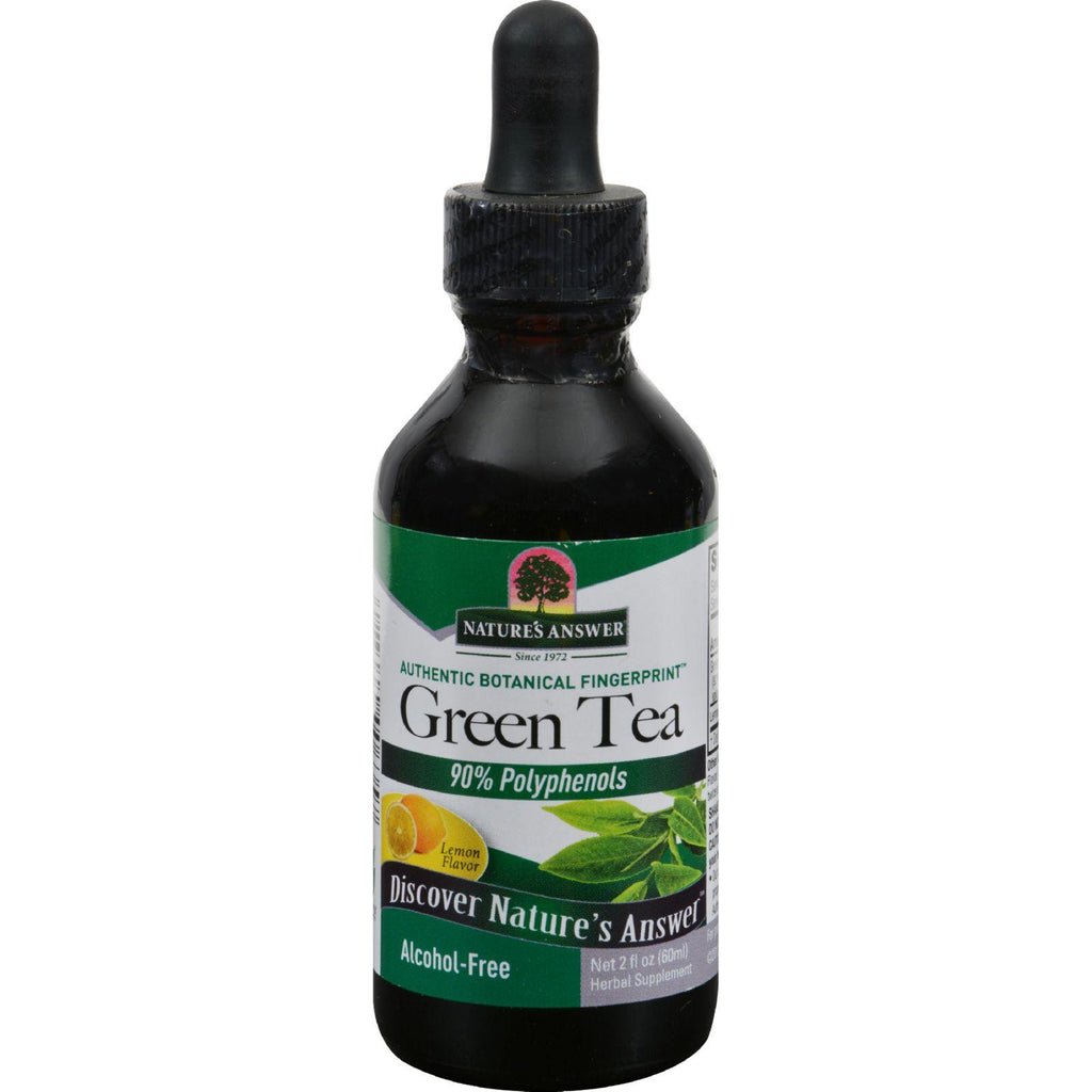 Nature's Answer Alcohol Free Super Green Tea With Lemon - 2 Oz