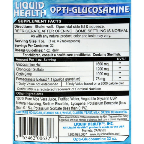 Liquid Health Opti-glucosamine Berry Pomegranate - 32 Fl Oz
