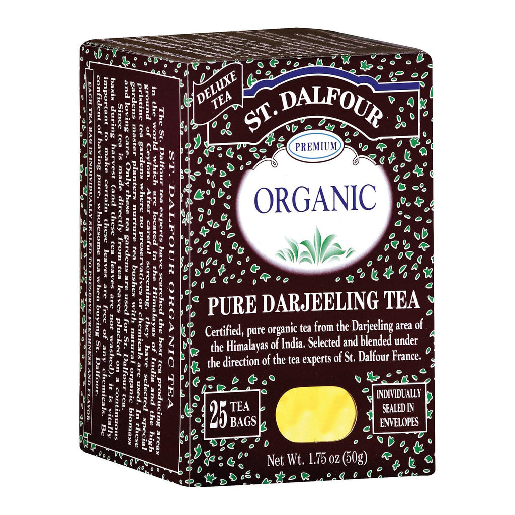St Dalfour Darjeeling Tea - Organic - Case Of 6 - 25 Count