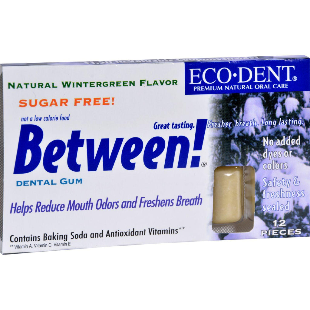 Eco-dent Between Dental Gum - Wintergreen - Case Of 12 - 12 Pack