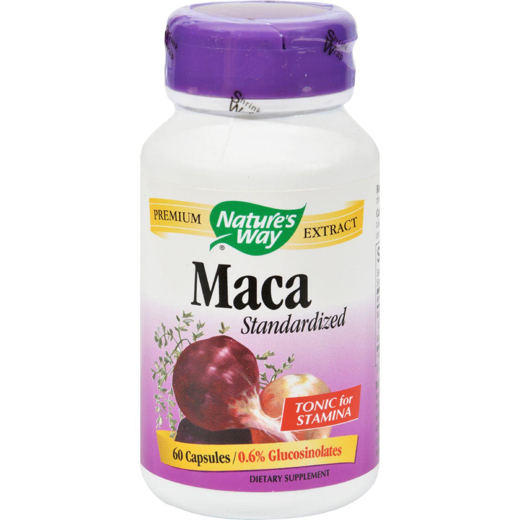 Nature's Way Maca Standardized - 60 Capsules