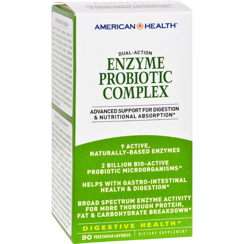 American Health Enzyme Probiotic Complex - 90 Vegetarian Capsules