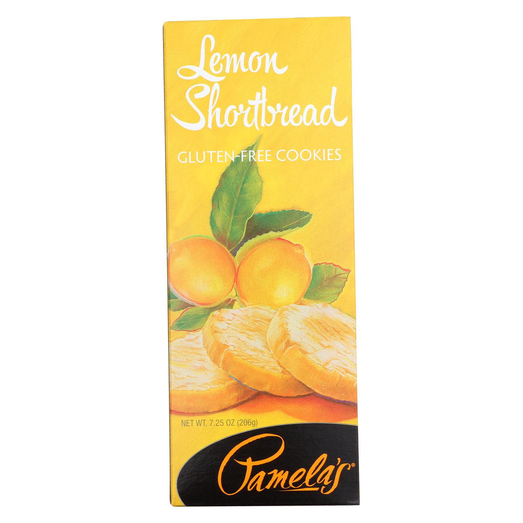 Pamela's Products Shortbread Cookies - Lemon - Case Of 6 - 7.25 Oz.