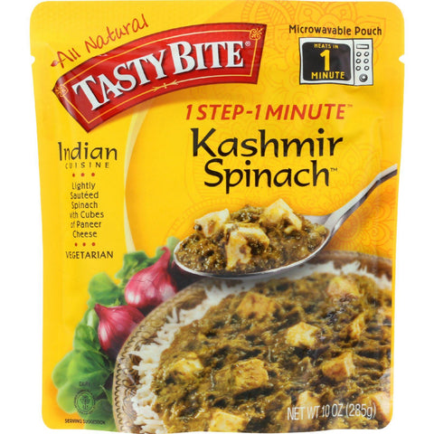 Tasty Bite Entrees - Indian Cuisine - Kashmir Spinach - 10 Oz - Case Of 6