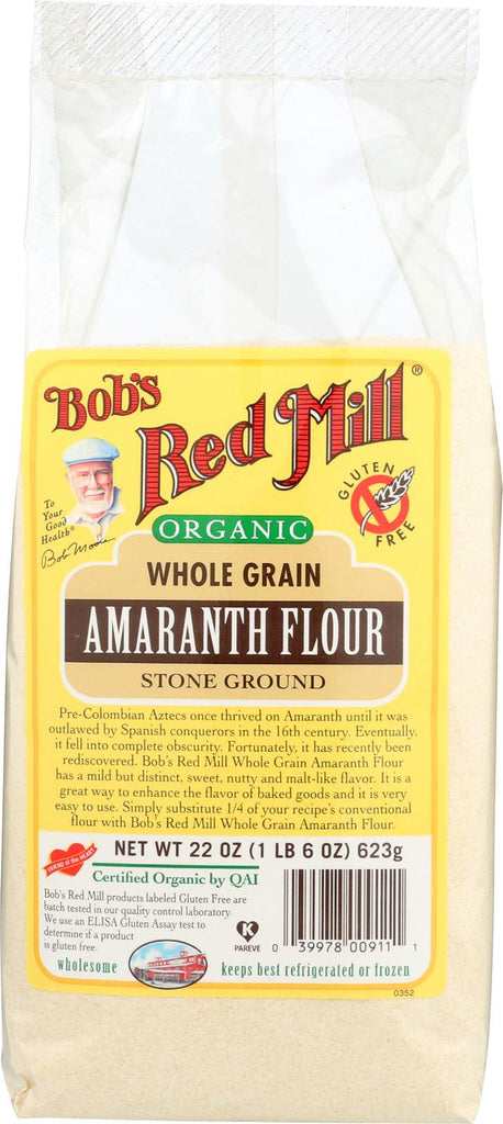 Bob's Red Mill Organic Amaranth Flour - 22 Oz - Case Of 4