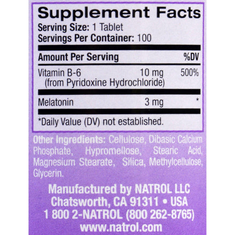 Natrol Melatonin Time Release - 3 Mg - 100 Tablets