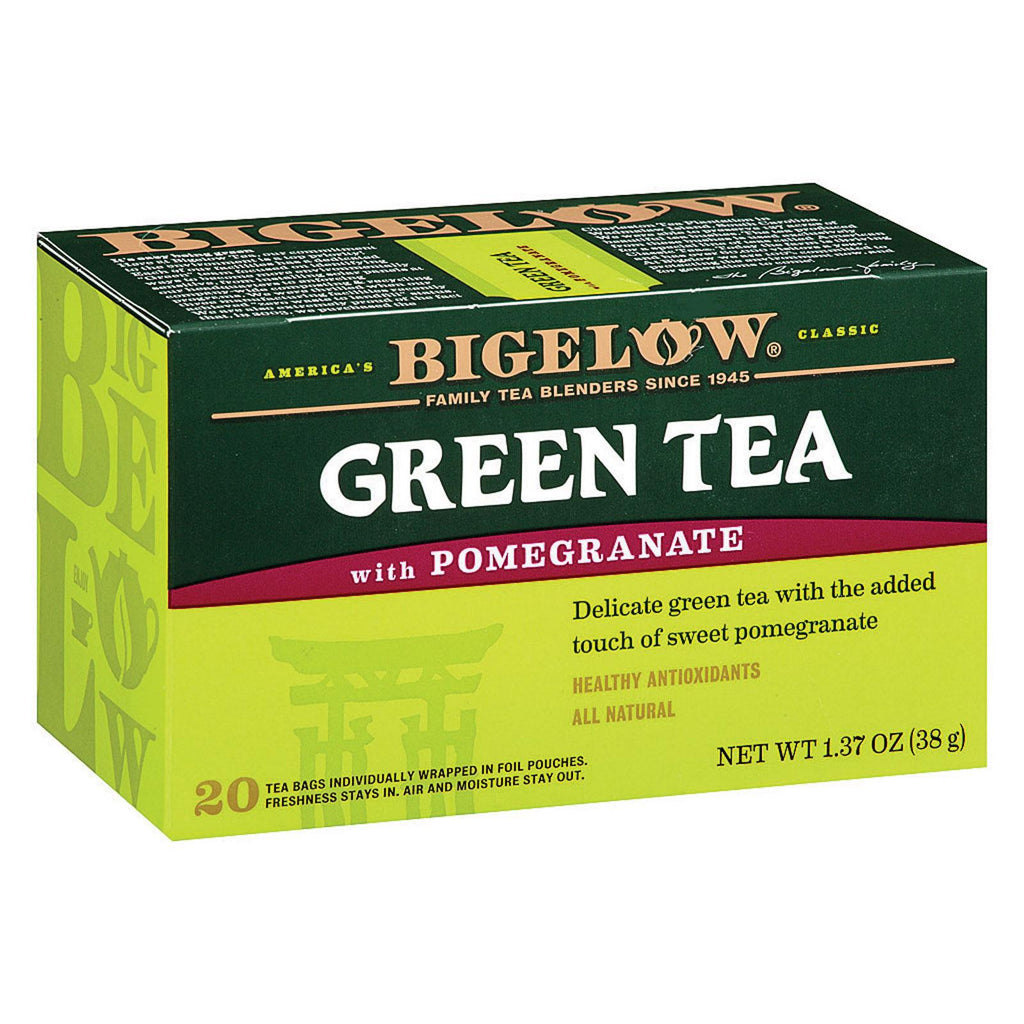 Bigelow Tea Green Tea - With Pomegranate - Case Of 6 - 20 Bag