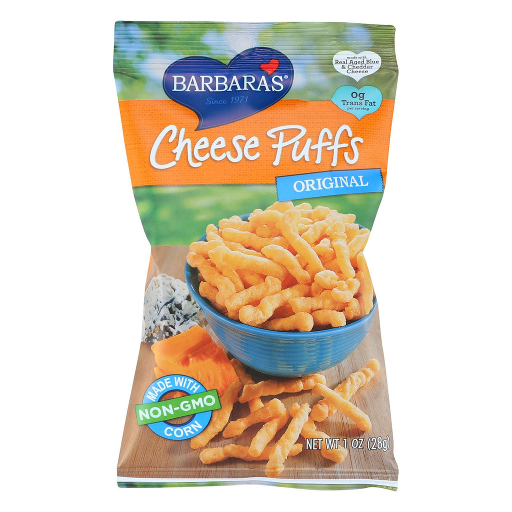 Barbara's Bakery Cheese Puffs - Original - Case Of 24 - 1 Oz.