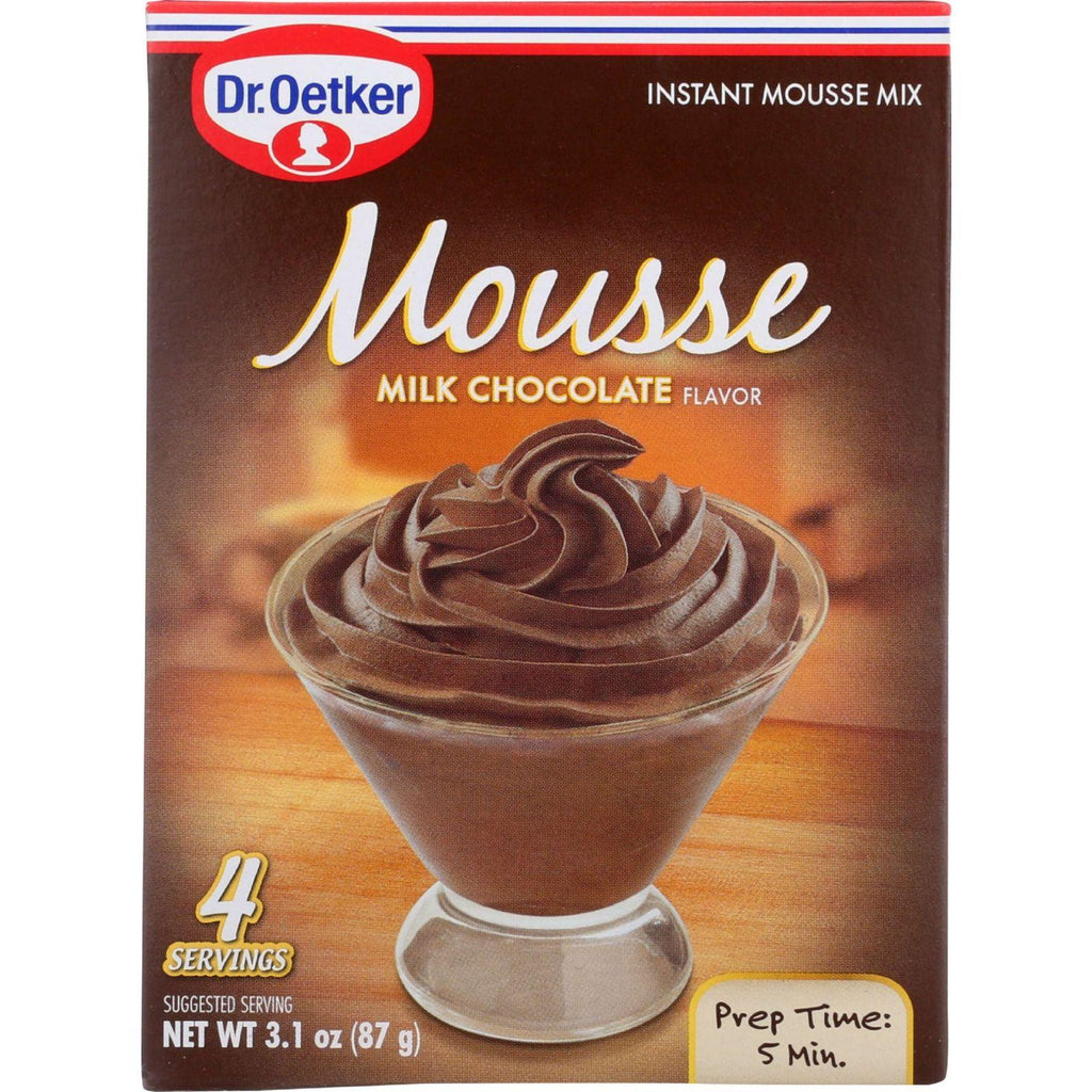 Dr. Oetker Organics Mousse Mix - Supreme - Instant - Milk Chocolate - 3.1 Oz - Case Of 12