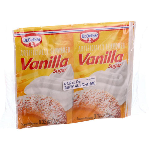 Dr. Oetker Organics Vanilla Sugar - Artifically Flavored - 1.92 Oz - Case Of 12