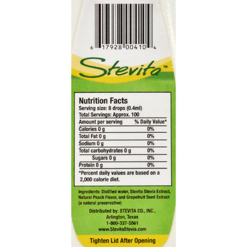 Stevita Flavors All Natural Flavored Stevia Peach - 1.35 Fl Oz