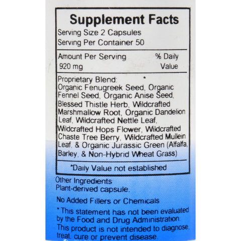 Dr. Christopher's Mother's Milk Formula - 100 Capsules
