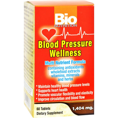 Bio Nutrition Blood Pressure Wellness - 60 Tablets