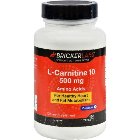 Bricker Labs Carnipure L-carnitine - 500 Mg - 100 Tablets