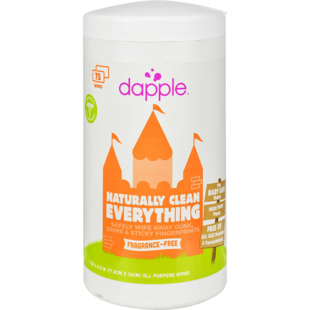 Dapple Surface Wipes For Highchairs, Toys And More Fragrance Free - 75 Wet Wipes