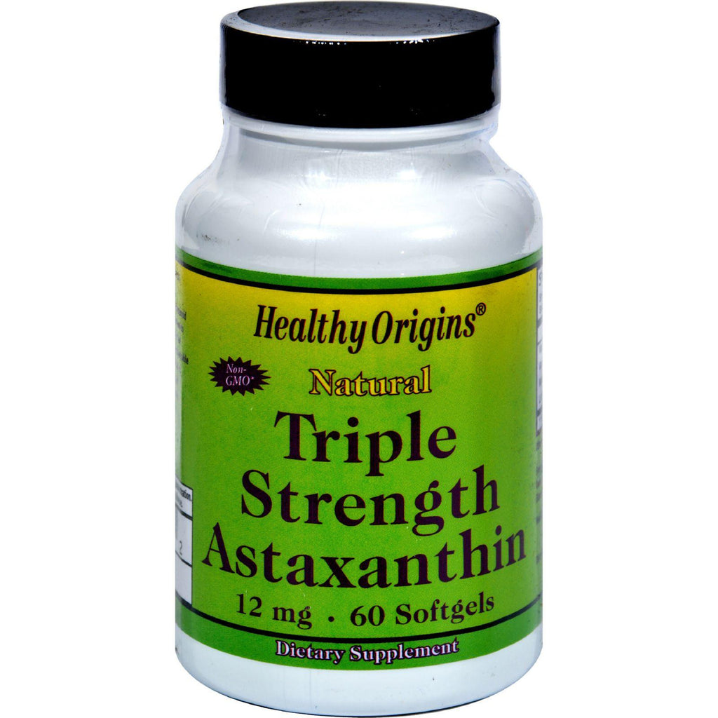 Healthy Origins Astaxanthin Triple Strength - 12 Mg - 60 Softgels