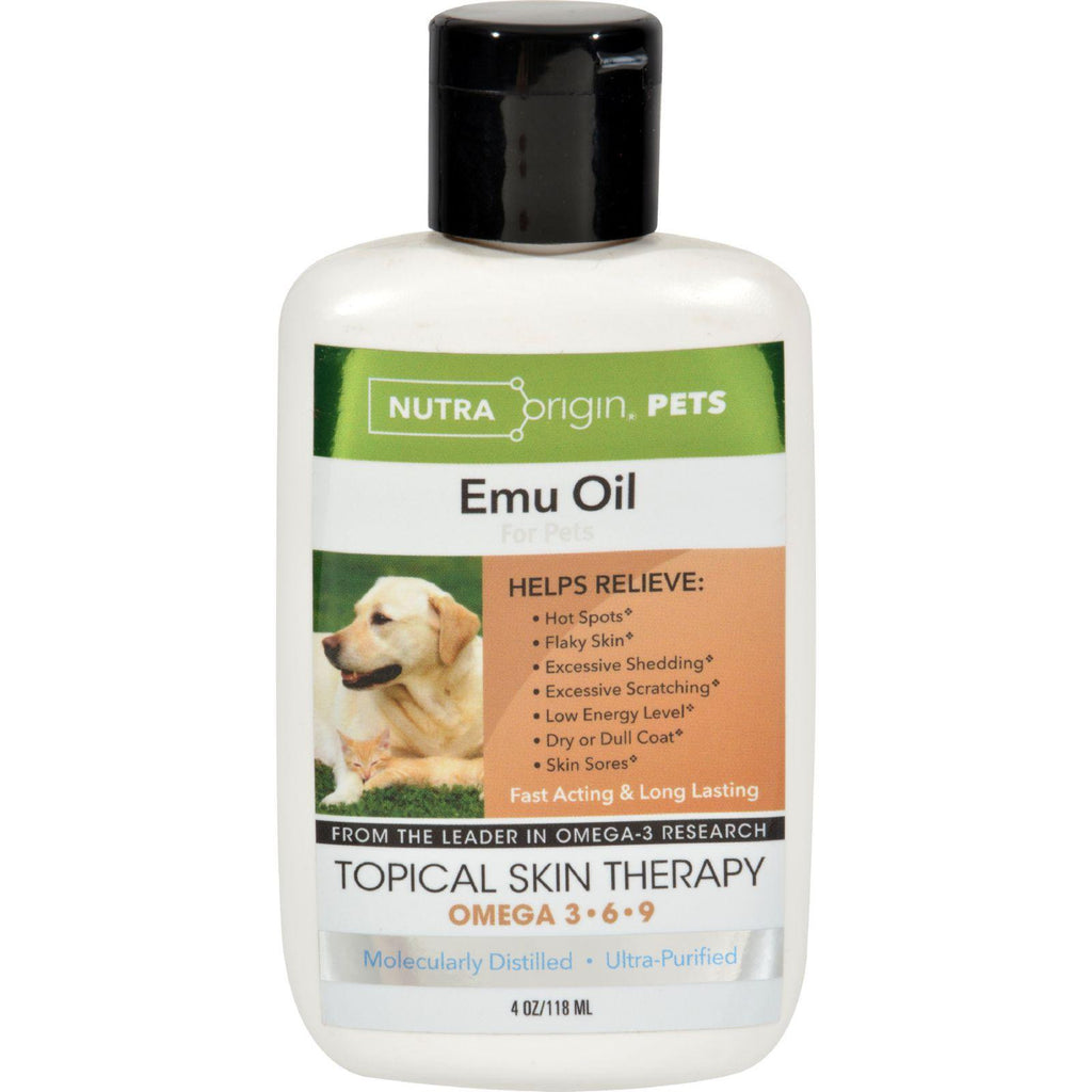 Nutra Origin Liquid Emu Oil For Pets - 4 Fl Oz