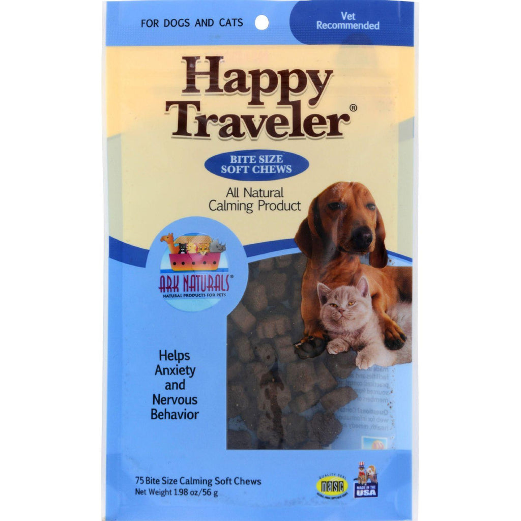 Ark Naturals Happy Traveler For Dogs And Cats - 75 Soft Chews