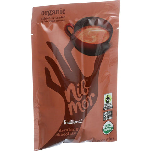 Nibmor Organic Drinking Chocolate Mix - Traditional - 1.05 Oz - Case Of 6