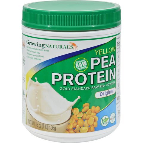 Growing Naturals Yellow Pea Protein - Original - 16 Oz